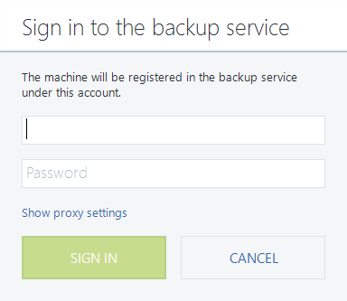 How do I install my online backup client