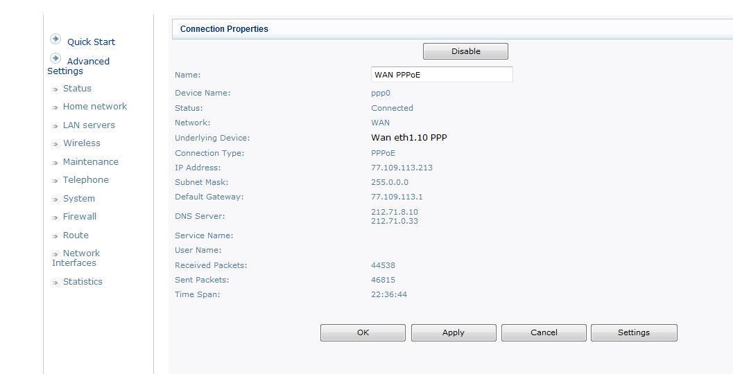 How do I configure my Sagem in bridge mode